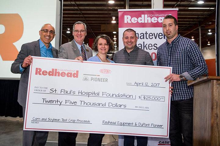 Redhead charitable donation