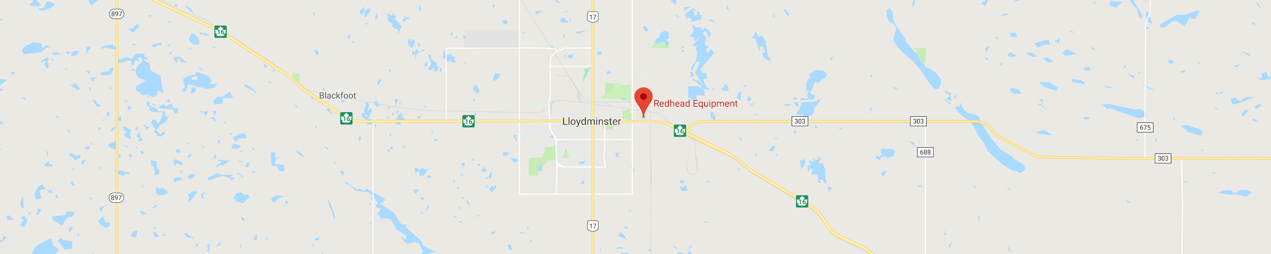 Map Location of Redhead Equipment in Lloydminster