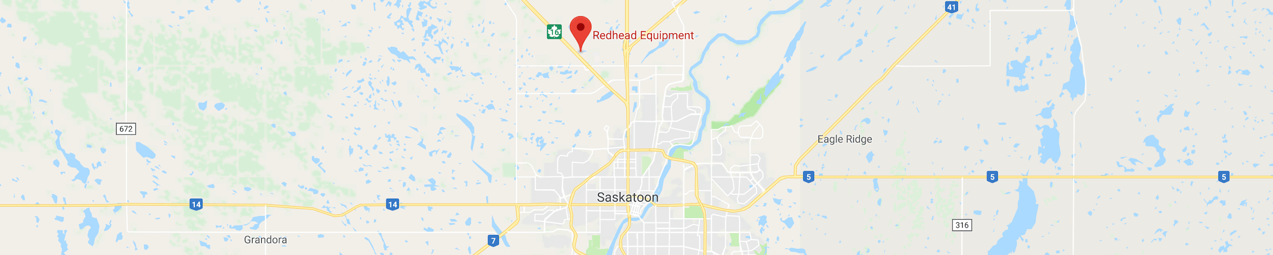 Map Location of Redhead Equipment in Saskatoon