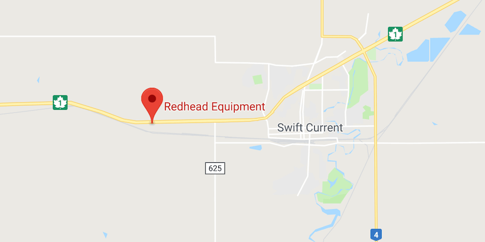 Map Location of Redhead Equipment in Swift Current