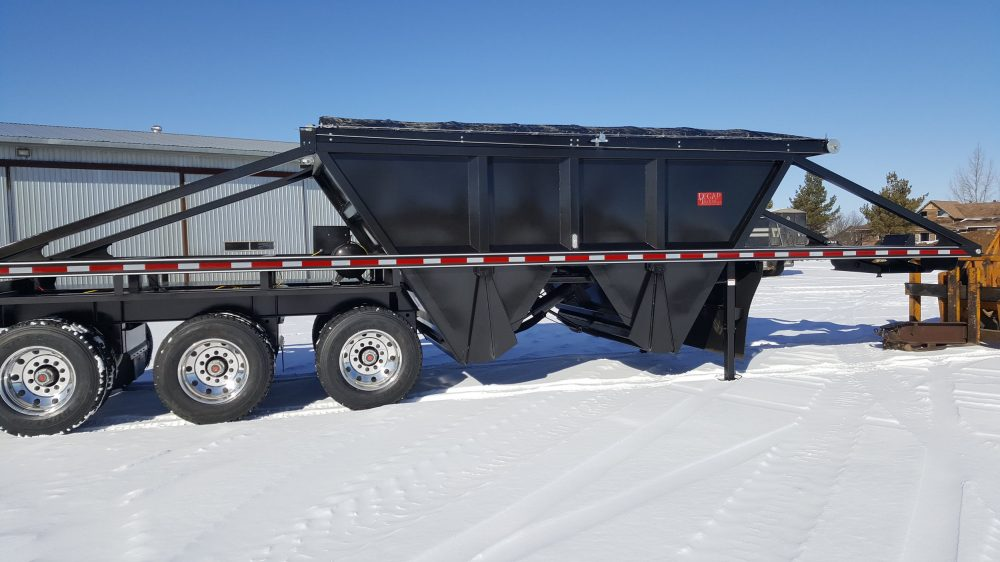 Black Decap Trailer in the winter